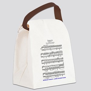 Moonlight-Sonata-Ludwig-Beethoven Canvas Lunch Bag