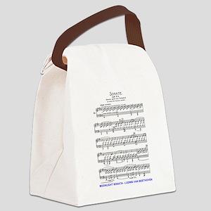 Moonlight-Sonata-Ludwig-Beethoven Canvas Lunch Bag