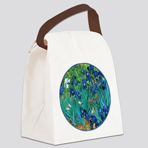 Van Gogh Garden  Irises Canvas Lunch Bag