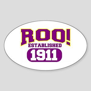 ROO Oval Sticker