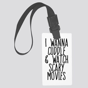 Cuddle and Watch a Movie Large Luggage Tag