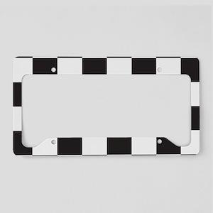 Checkered License Plate Holder