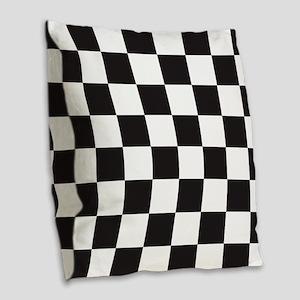 Checkered Burlap Throw Pillow
