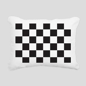 Checkered Rectangular Canvas Pillow