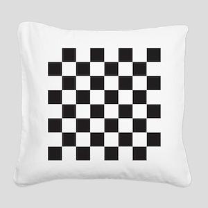 Checkered Square Canvas Pillow