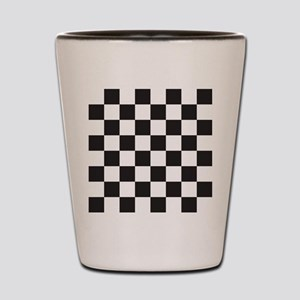 Checkered Shot Glass