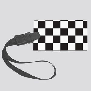 Checkered Luggage Tag
