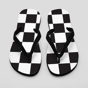 Checkered Flip Flops