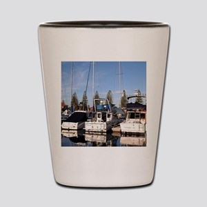 Boats in Marina, New Haven, South Austr Shot Glass