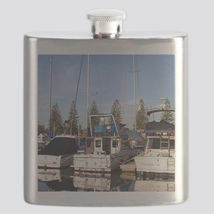Boats in Marina, New Haven, South Australia Flask