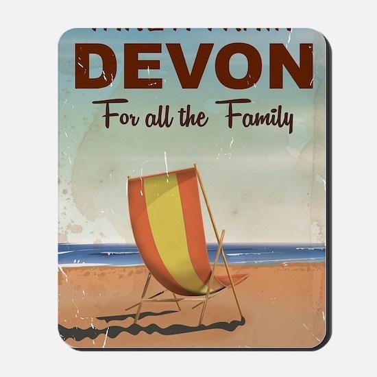 Take a Train to Devon vintage travel pos Mousepad