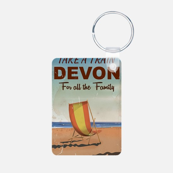 Take a Train to Devon vint Keychains