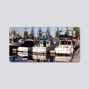 Boats in Marina, New Haven, Aluminum License Plate