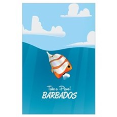 Barbados vintage travel poster Poster