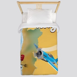 Portugal travel poster  Twin Duvet
