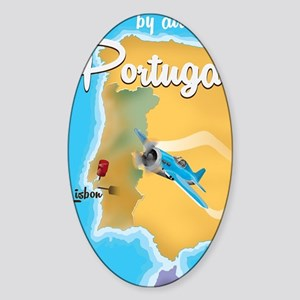 Portugal travel poster  Sticker (Oval)