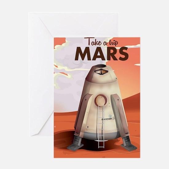 Take a Trip to Mars Greeting Card