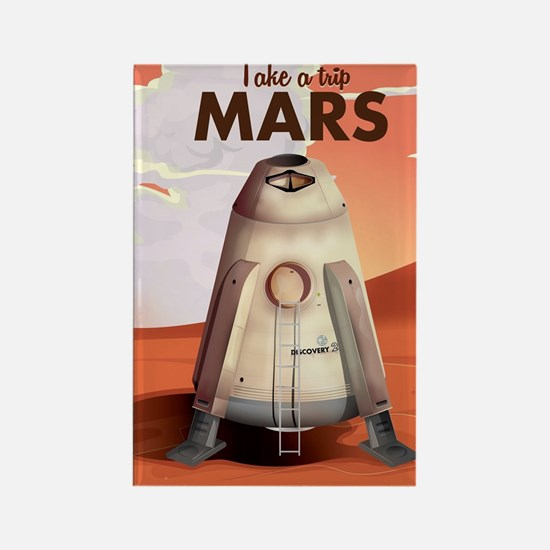 Take a Trip to Mars Rectangle Magnet