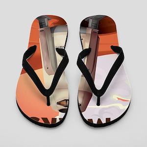 Take a Trip to Mars Flip Flops