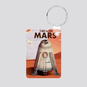Take a Trip to Mars Aluminum Photo Keychain