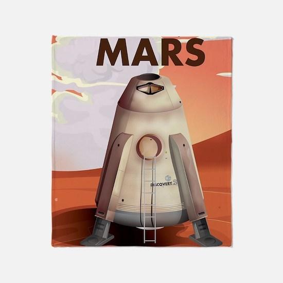 Take a Trip to Mars Throw Blanket