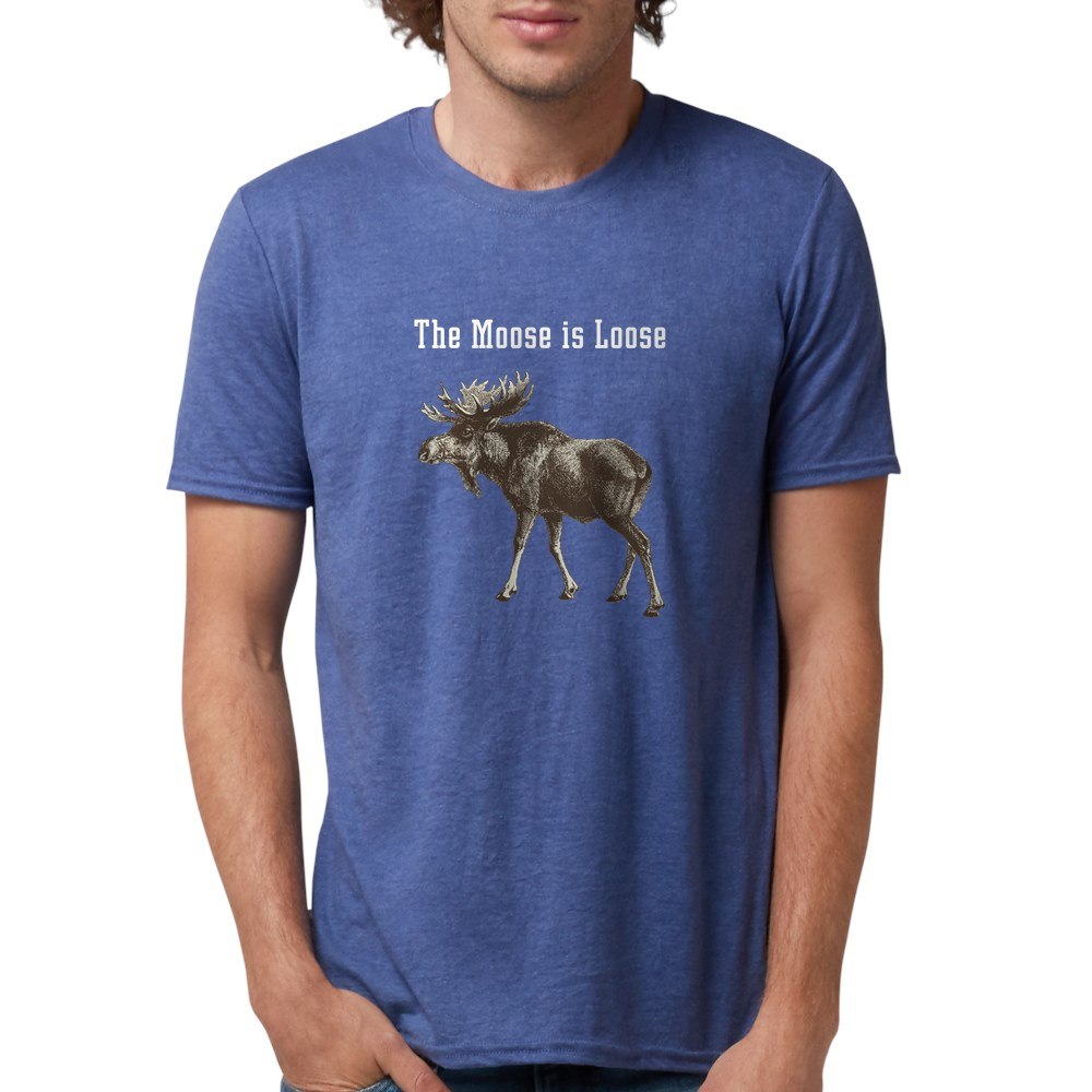 CafePress-Moose-Is-Loose-Whtie-T-Shirt-Mens-Tri-blend-T-Shirt-160995250 thumbnail 38
