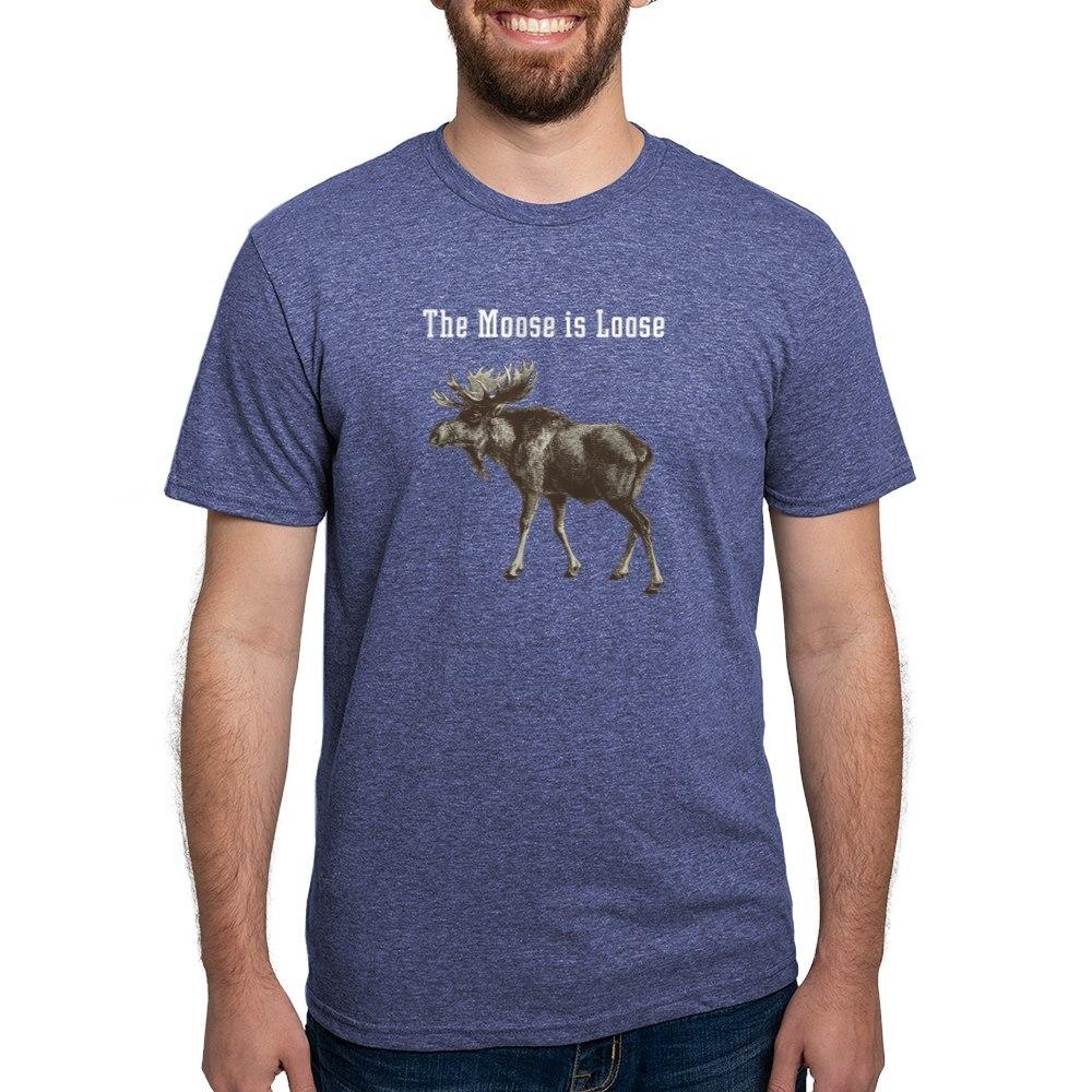CafePress-Moose-Is-Loose-Whtie-T-Shirt-Mens-Tri-blend-T-Shirt-160995250 thumbnail 40