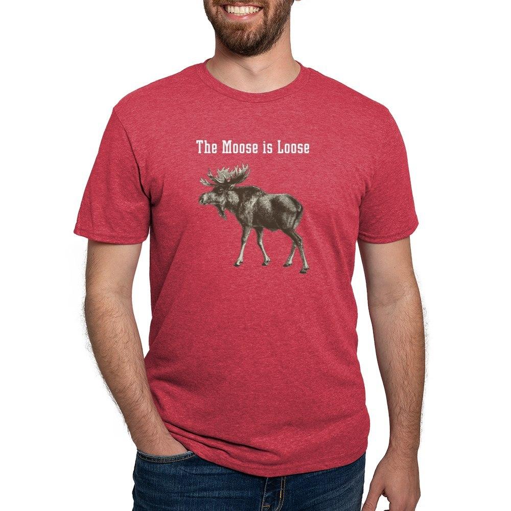CafePress-Moose-Is-Loose-Whtie-T-Shirt-Mens-Tri-blend-T-Shirt-160995250 thumbnail 48