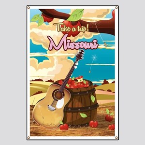 Missouri vintage cartoon travel poster Banner
