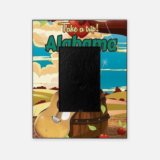 Alabama vintage travel poster Picture Frame