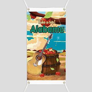 Alabama vintage travel poster Banner