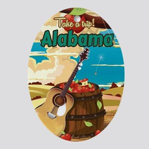 Alabama vintage travel poster Oval Ornament