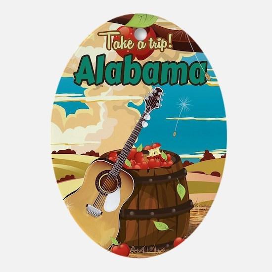 Alabama vintage travel poster Oval Ornament