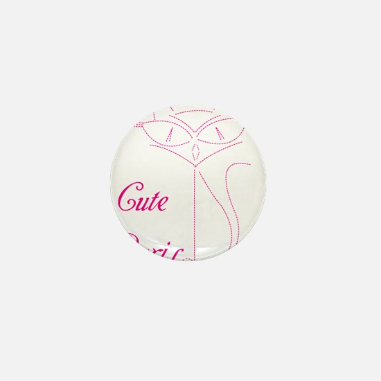 cute paris cat Mini Button
