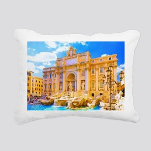Rome, Italy - Cinque Ter Rectangular Canvas Pillow