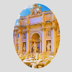 Rome, Italy - Trevi Fountain Oval Ornament