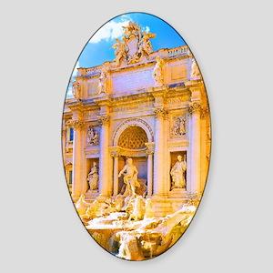 Rome, Italy - Trevi Fountain Sticker (Oval)
