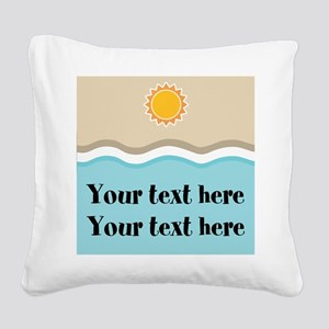 Personalized Beach Summer Square Canvas Pillow