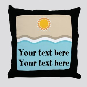 Personalized Beach Summer Throw Pillow