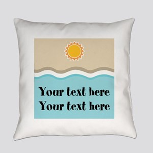 Personalized Beach Summer Everyday Pillow