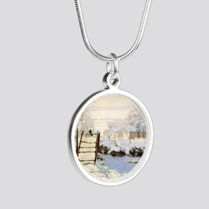 Magpie by Monet Silver Round Necklace