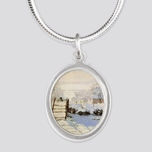 Magpie by Monet Silver Oval Necklace