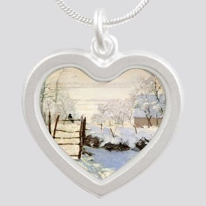 Magpie by Monet Silver Heart Necklace