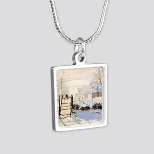 Magpie by Monet Silver Square Necklace