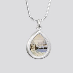 Magpie by Monet Silver Teardrop Necklace