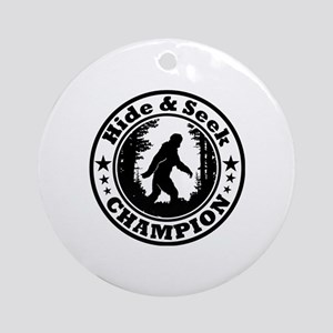 Hide and seek world champion Round Ornament