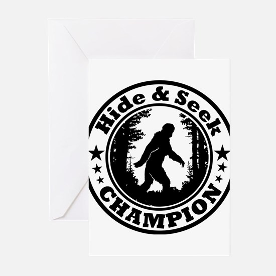 Hide and seek world champion Greeting Cards