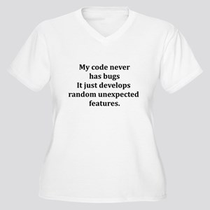 Code Bug Free Women's Plus Size V-Neck T-Shirt