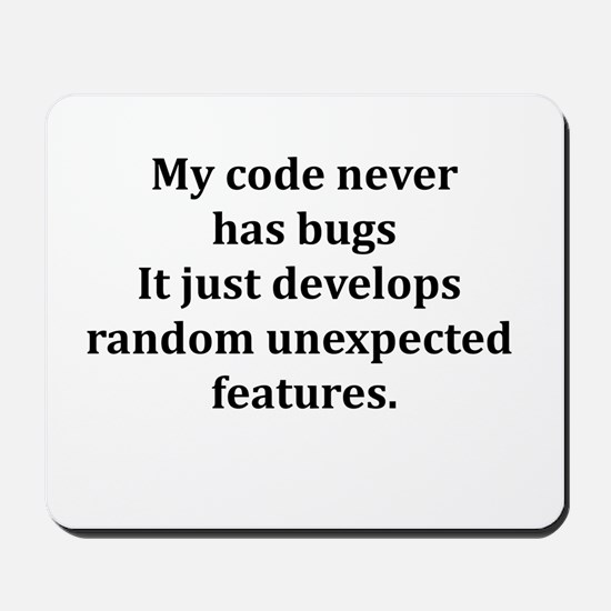 Code Bug Free Mousepad