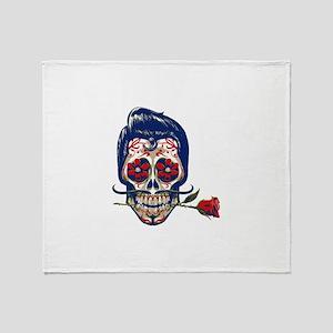 Old School Skull Throw Blanket
